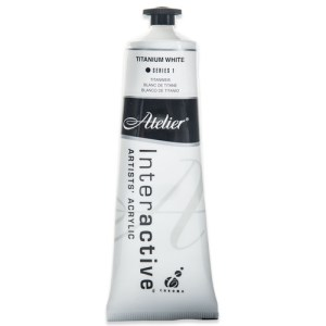 Atelier Interactive Artists Acrylic Paint 80ml - TITANIUM WHITE Series 1