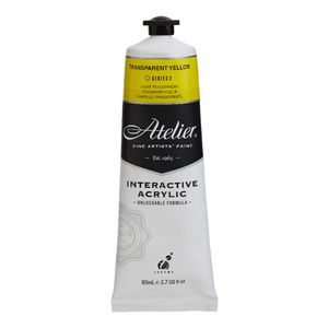 Atelier Interactive Artists Acrylic Paint 80ml-TRANSPARENT YELLOW Series 2