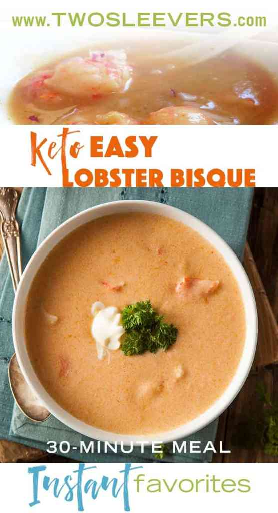 Simple and easy low carb lobster bisque. Guess what it uses for creaminess?