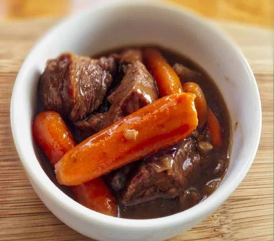 Instant Pot Beef stew goes together quickly for a hearty, comforting supper in under an hour. Customize your choice of vegetables to make this work for you.