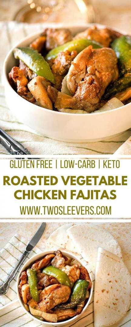 Chicken Fajitas | Gluten Free Fajitas | Keto Fajitas | Low Carb Mexican Recipe | Keto Mexican Recipe | Low Carb Fajitas | Keto Chicken Recipe | Two Sleevers #fajitas #ketorecipe #mexicanrecipe