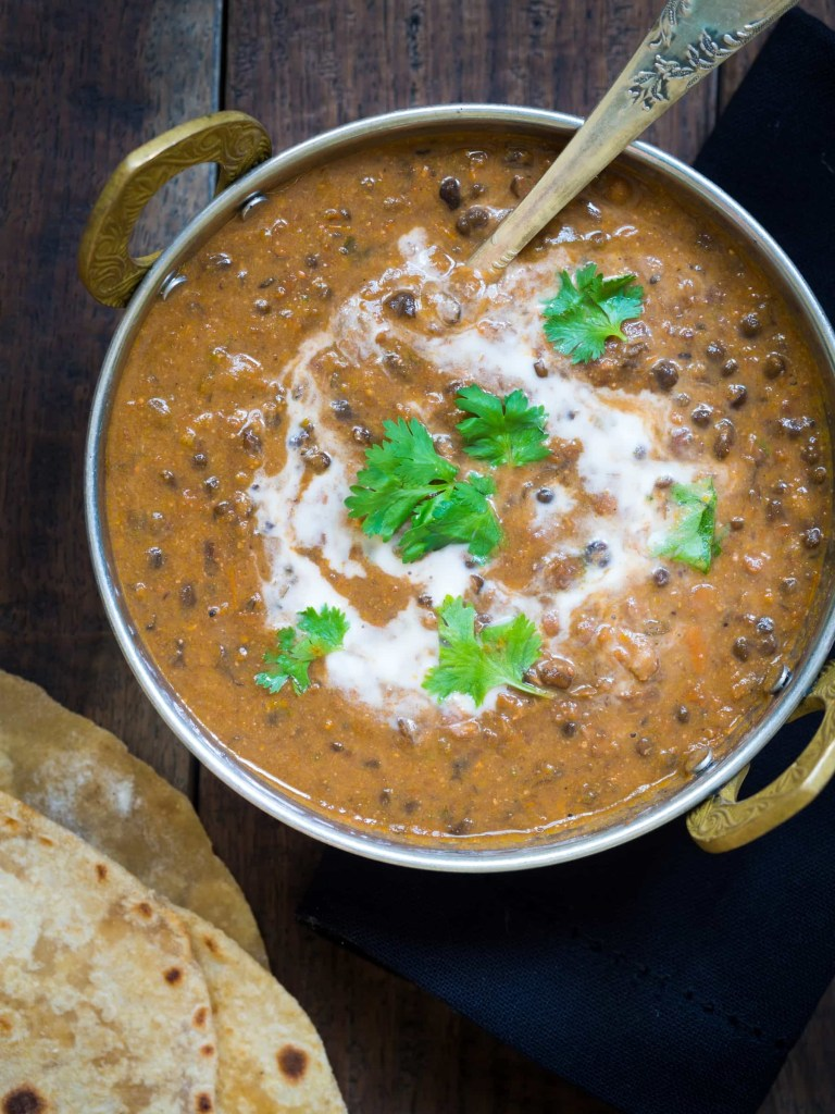 Make restaurant-style Indian Dal Makhani at home in your pressure cooker. Smooth, creamy, spicy, and hearty plant proteins for great taste, and good health.