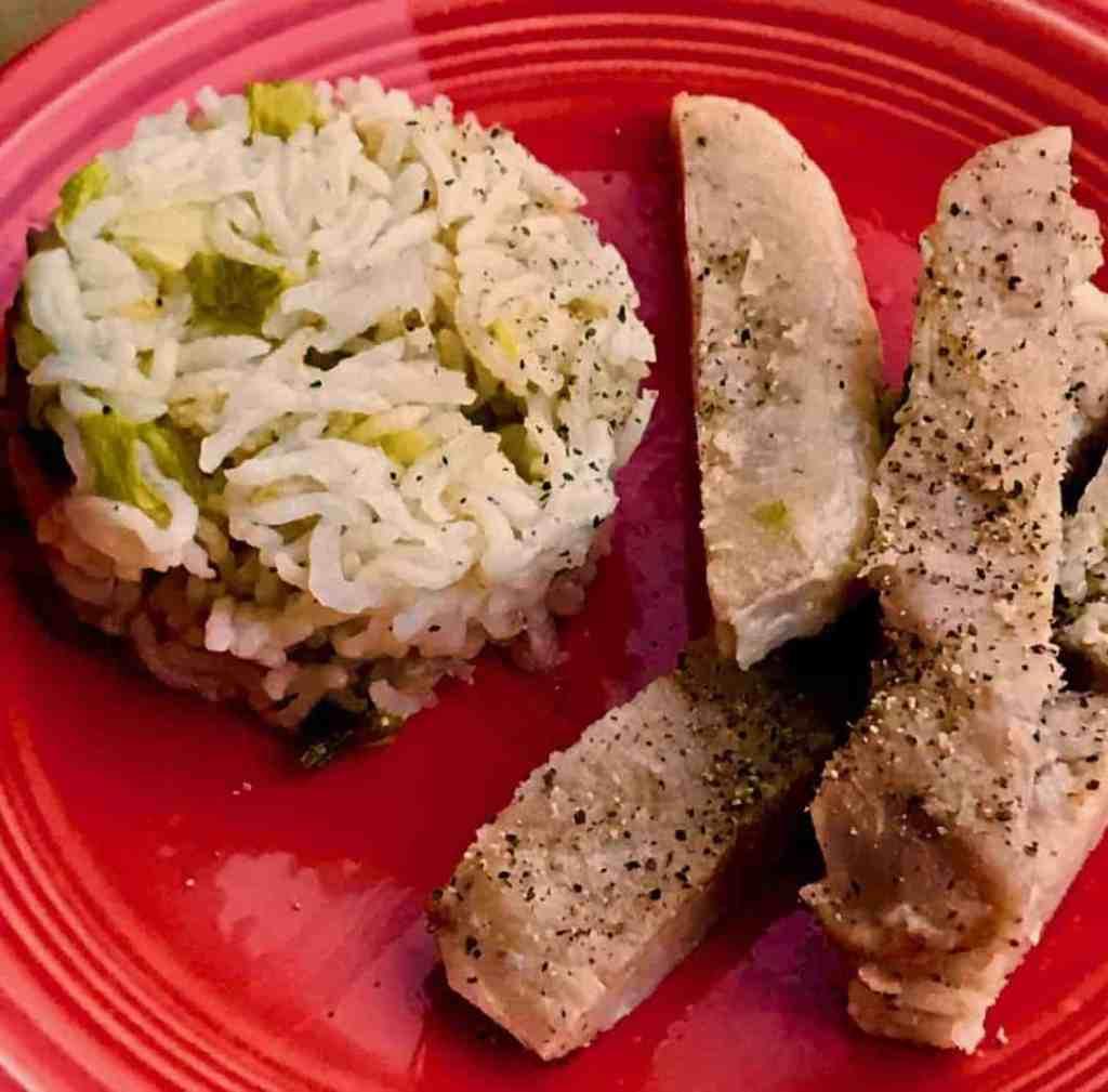 IMG 3156 2 1024x1009 - Pork Chops & Rice - https://twosleevers.com
