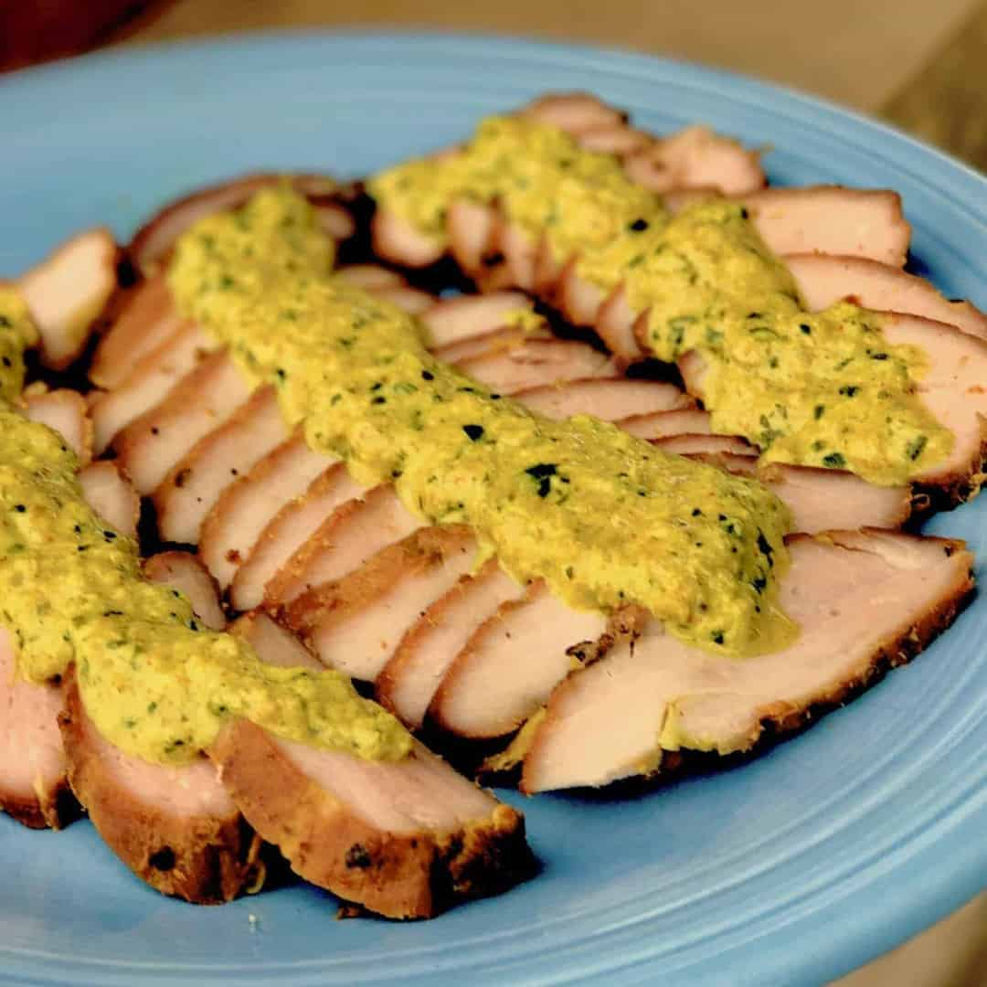 Smoked Pork Tenderloin: Succulent Indian-Style Smoked Pork Tenderloin With Sauce