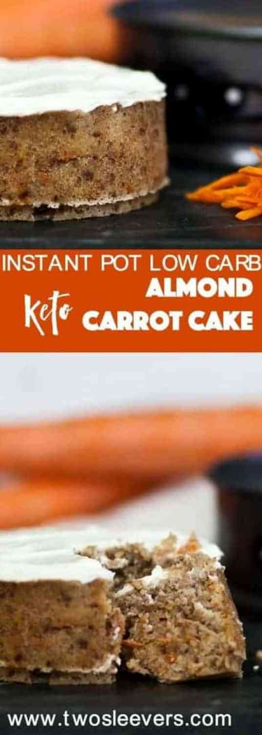 Instant Pot Keto Carrot Cake Two Sleevers