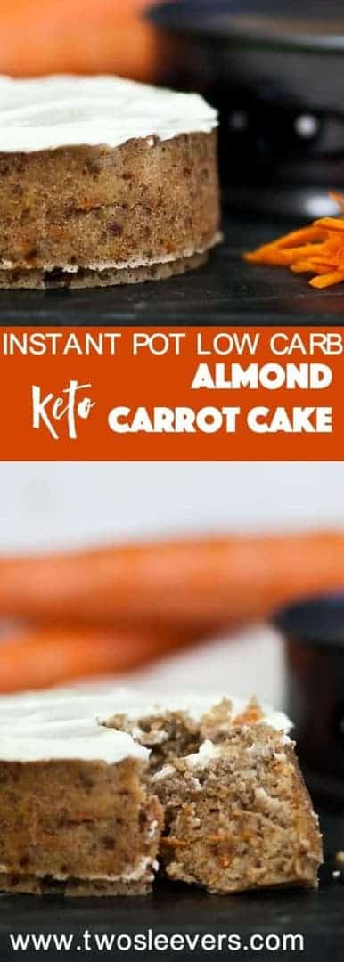 Make a Gluten-Free Keto Carrot Cake in your Instant Pot or pressure cooker. Perfect for days you don't want to heat up your kitchen and guess what? It tastes like real cake.