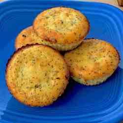 Gluten-free Keto Ricotta Lemon Poppyseed Muffins