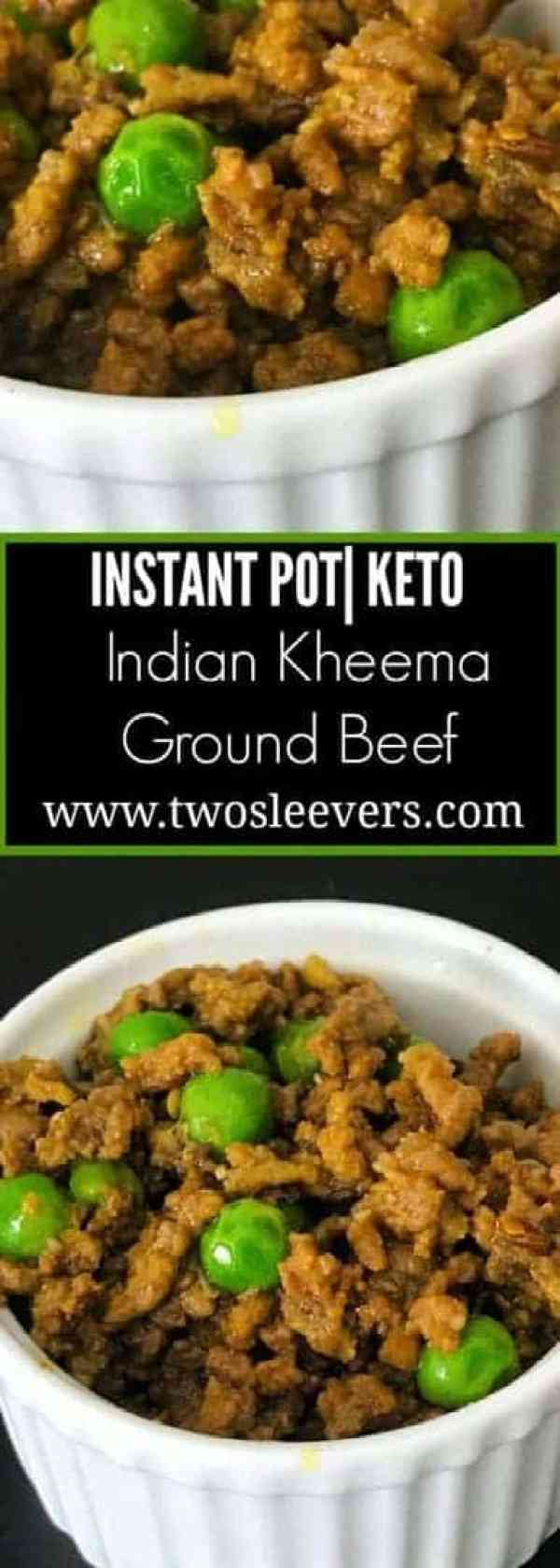 kheema keto Pinterest - Instant Pot Keto Indian Kheema - https://twosleevers.com
