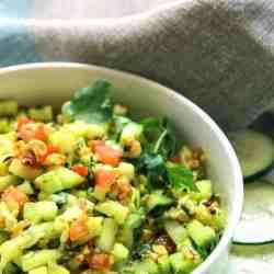 Indian Cucumber Peanut Salad Kakadi Chi Koshimbir
