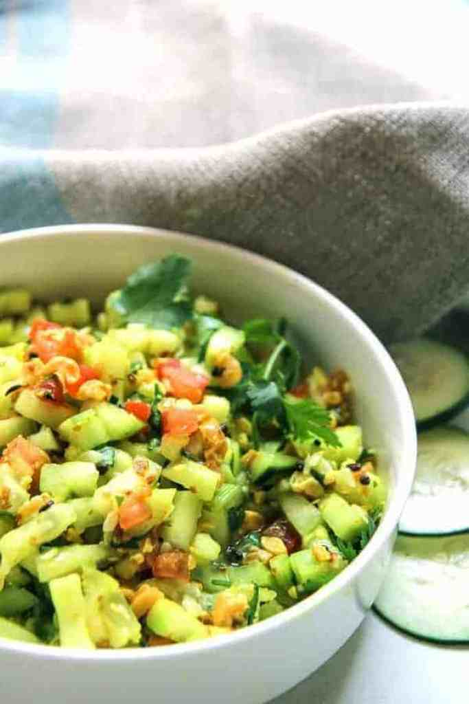 Indian Cucumber Peanut Salad Kakadi Chi Koshimbir – Two ...