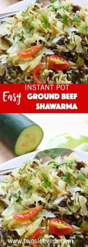 Instant Pot Ground Beef Shawarma and Rice combines ground beef and rice with spices to create a new twist on comfort food in your pressure cooker .