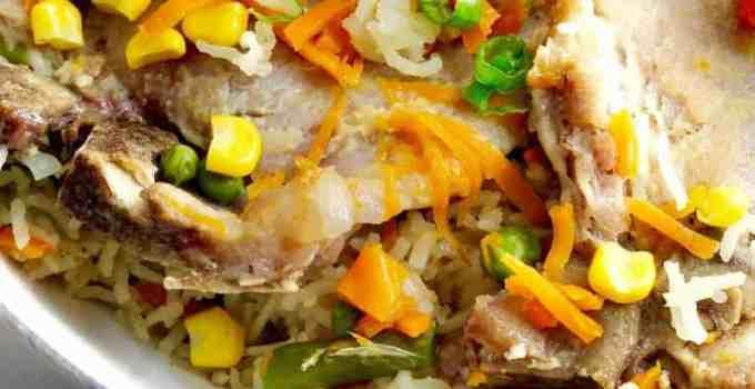 Instant Pot Pork Chops & Rice with Vegetables