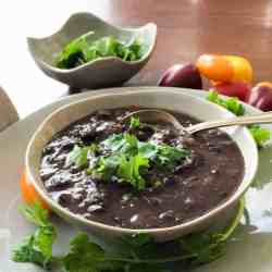 Pressure Cooker Black Bean Soup