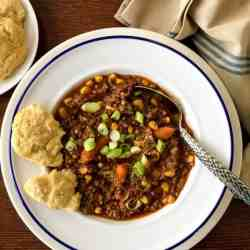 Easy pressure cooker hamburger stew can be made with any frozen vegetables of your choice. Family friendly dump and cook recipe gives you lots of taste for very little effort.