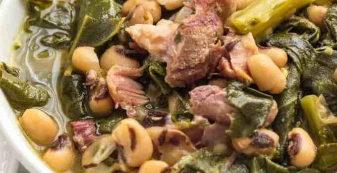 Pressure Cooker Southern Style Beans and Greens