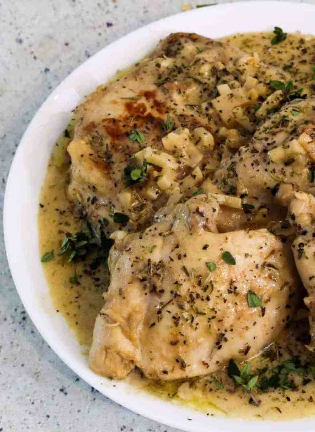 Low Carb French Garlic Chicken Recipe Two Sleevers