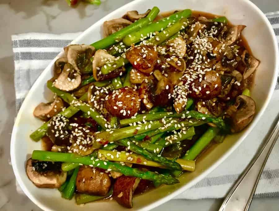 Asparagus and Mushrooms