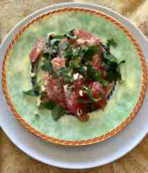 A delightful lovely light salad is perfect for an elegant brunch or just whenever you want a burst of a tangy summer taste in your mouth. Combine Grapefruit and Avocado with cilantro and mint for a fresh taste—a poem in your mouth.