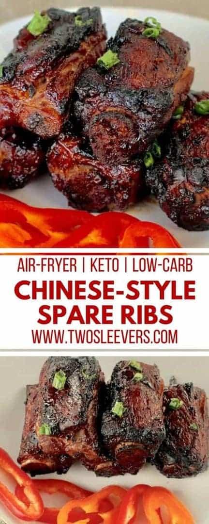 Chinese-Style Spareribs | Air-Fryer Ribs | Chinese Ribs | Keto Ribs Recipe | Keto Chinese Recipe | Keto Air-Fryer Recipe | Two Sleevers #airfryerrecipe #ketochinese #ketorecipe