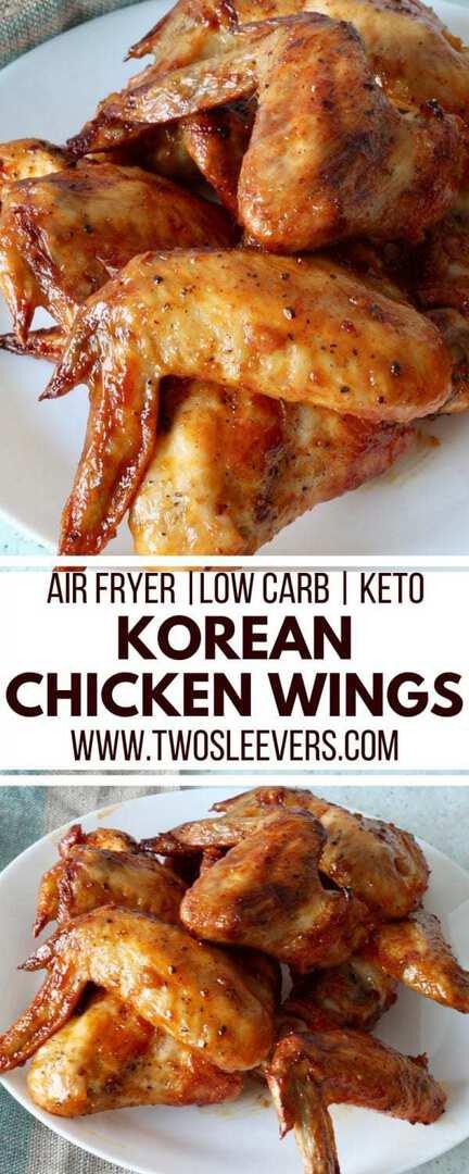 Air Fryer Korean Chicken Wings | Air Fryer Wings | Keto Wings | Keto Korean | Keto Appetizer Recipe | Low Carb Korean Recipe | #airfryerrecipe #ketowings #ketorecipe #ketoappetizer