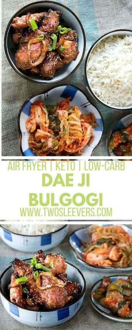 Air Fryer Korean Grilled Pork Dae Ji Bulgogi | Korean Pork | Bulgogi Recipe | Air Fryer Recipes | Keto Recipes | Low Carb Recipes | Air Fryer Recipe | Korean Air Fryer Recipe | Air Fryer Pork Recipe | Two Sleevers #airfryerrecipe #bulgogirecipe #koreanrecipe #keto #lowcarb