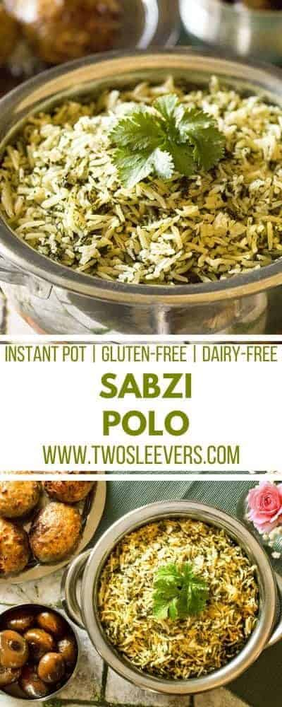 Instant Pot | Sabzi Polo | Persian Herbed Rice| Instant Pot Rice Recipe | Make a perfect Persian Herbed Rice in your pressure cooker. This is a super simple, and very flavorful Instant Pot Sabzi Polo recipe that goes well with just about any meat or vegetable.