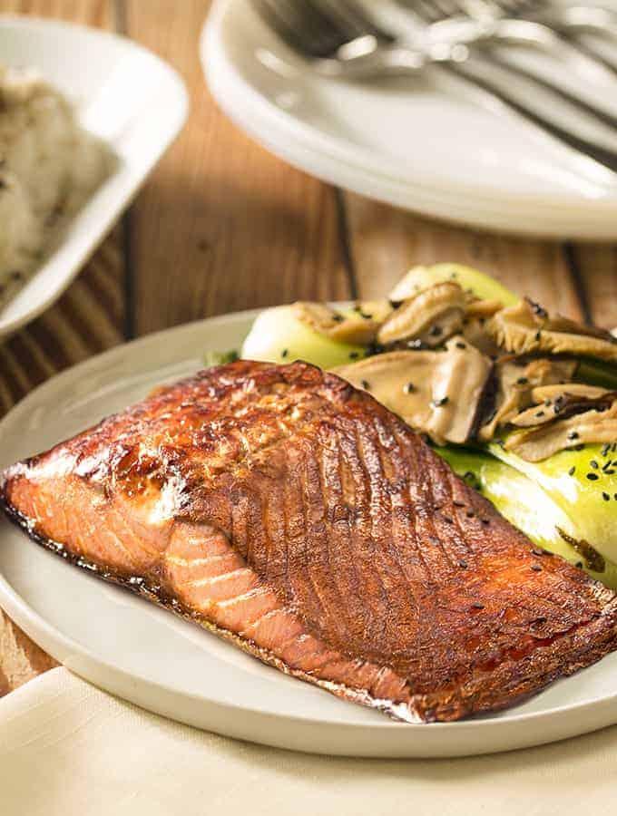 Salmon Bok Choy | Air Fryer Recipe