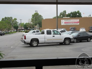 someone illegally parked in MY illegal parking!