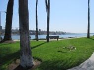 The channel at Corona Del Mar. The wedge is just to the right