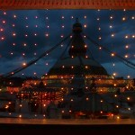 The Boudha stupa at night