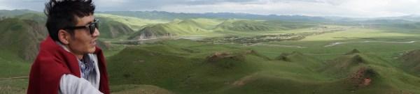 Sangja over the Sangke Grasslands, Sangchu, Amdo