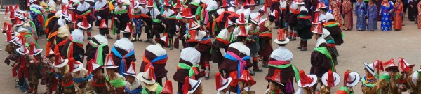 Dancers at the Leru Festival at Rongwo Monastery