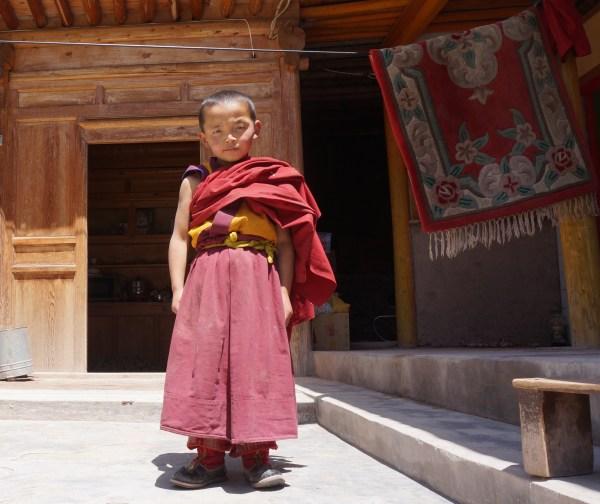 Boy Monk in Dantuk Monastery, Xunhua, Qinghai