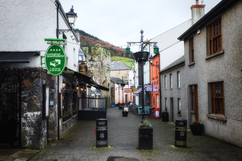 Characterful little streets have a Continental feel