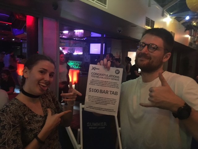We won the bar tab, Base Backpackers St. Kilda review, Two Souls One Path
