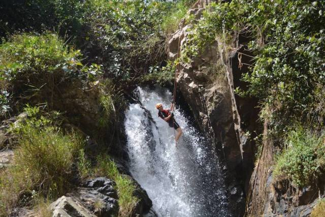 Canyoning-in-Da-Lat-REVIEW-Lorna-decending-the-22Washing-Machine22