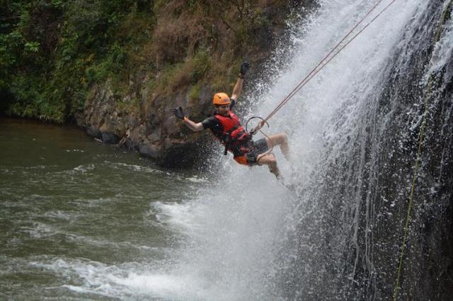 Canyoning-in-Da-Lat-REVIEW-Matt-taking-a-leap-of-faith
