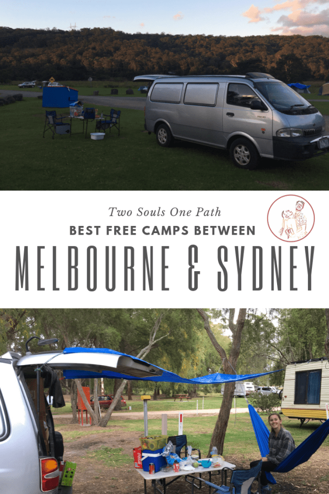 Best free camps between Melbourne and Sydney pinterest image