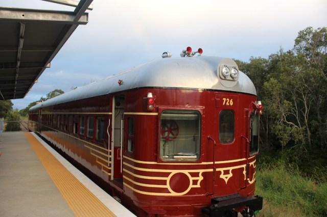 Solar Train in Byron Bay