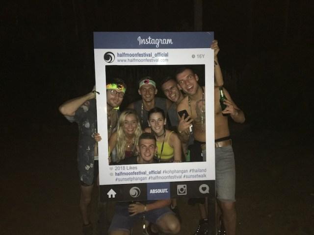 Half moon party in Koh Phangan
