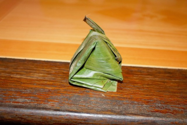 Our banana leaf wrapped treat