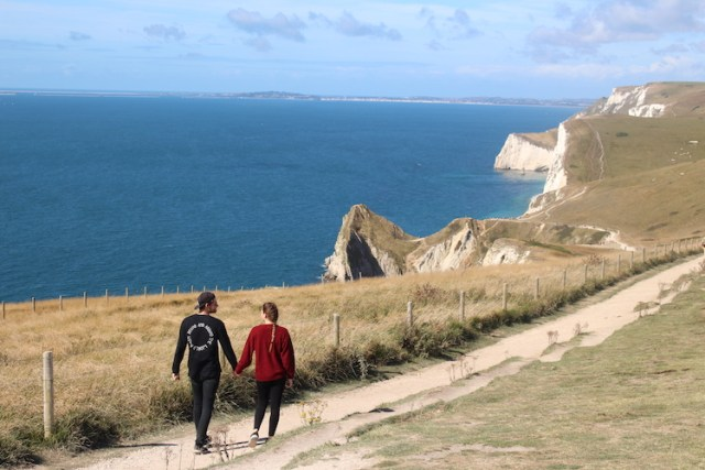 Coastal path to Durdle Door, Visiting Durdle Door, Two Souls One Path