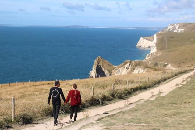 Coastal path to Durdle Door, Visiting Durdle Door, Two Souls One Path