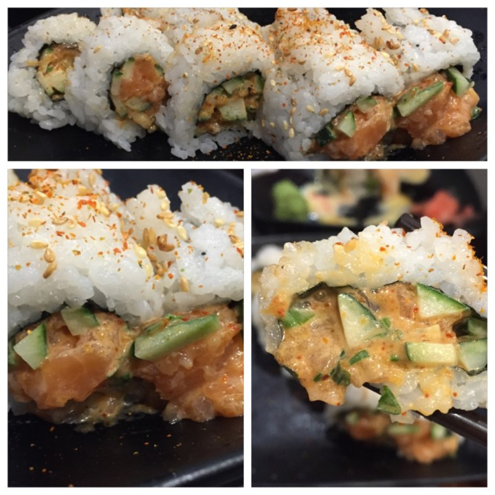 Spicy salmon maki, spicy salmon, best sushi singapore, best sushi, twostomachs