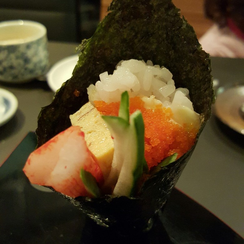 Kaiho Sushi California Hand Roll