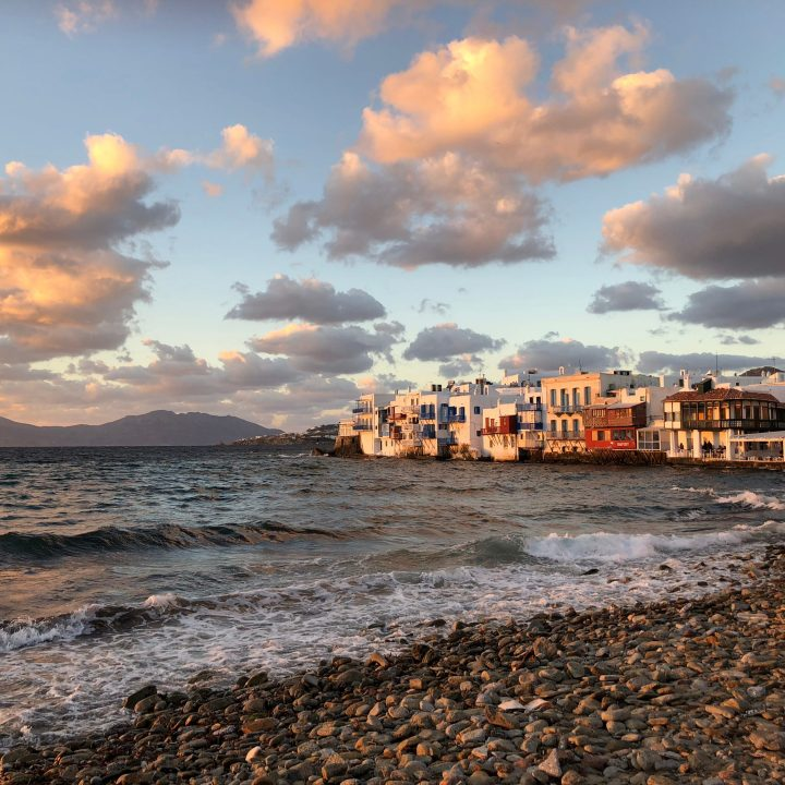 best sunset mykonos, little venice mykonos