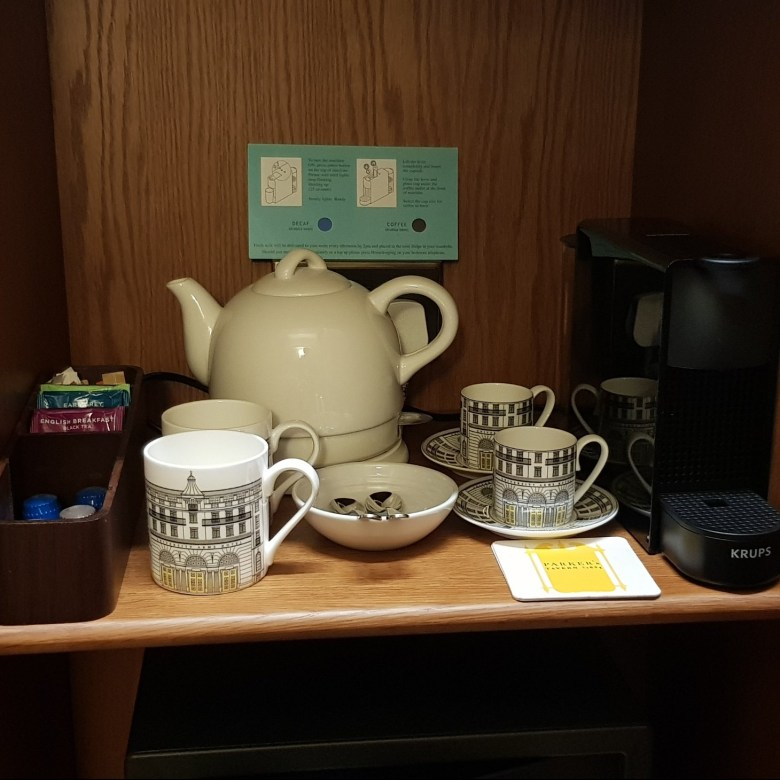 Luxury University Arms Hotel Cambridge Complimentary Teas Coffees Teapot Kettle