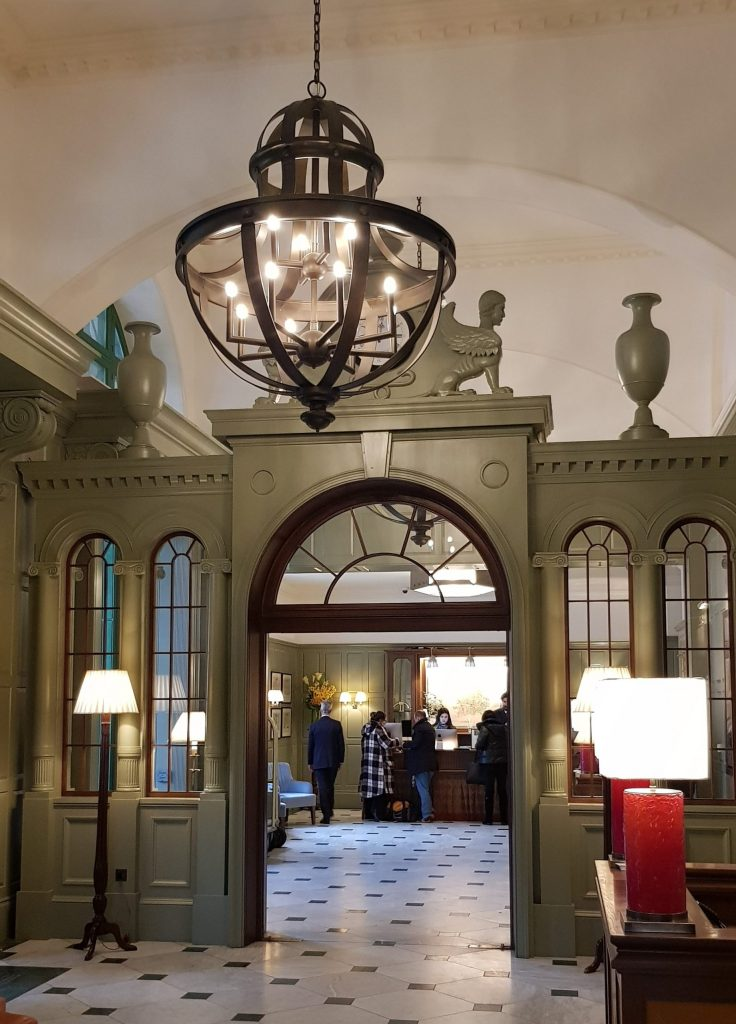 Lobby Checkin Luxury University Arms Hotel Cambridge