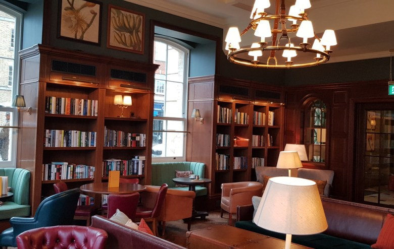 Library Drawing Room Luxury University Arms Hotel Cambridge
