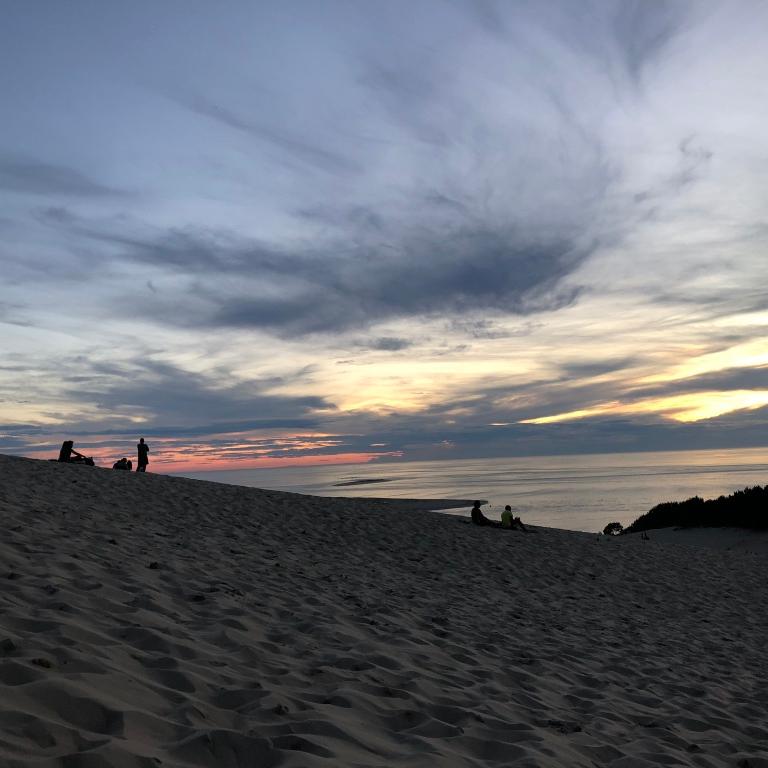 North France Driving Itinerary Travel Tips Dune du Pilat Sand Dune Sunset